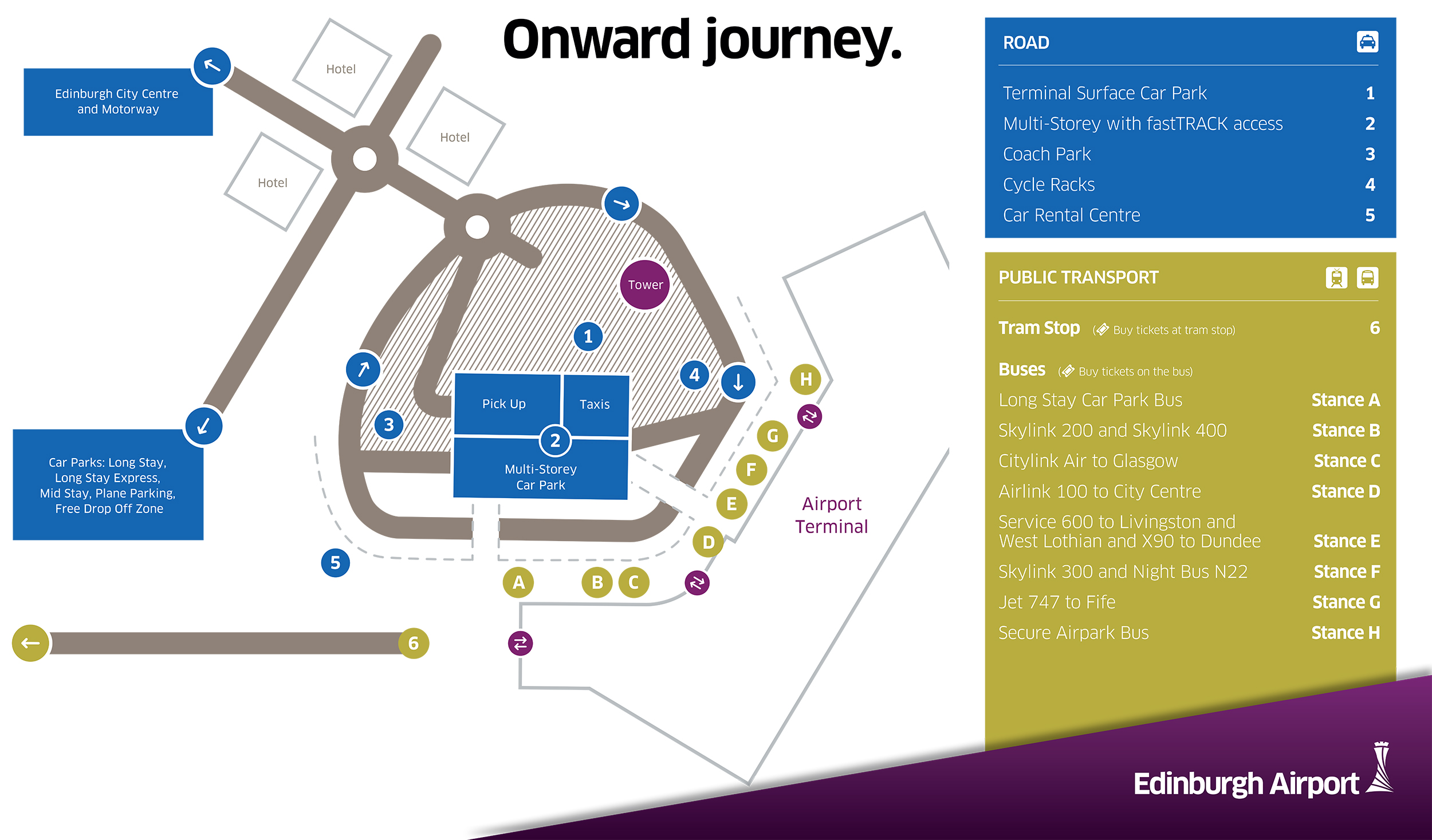 Airport road map